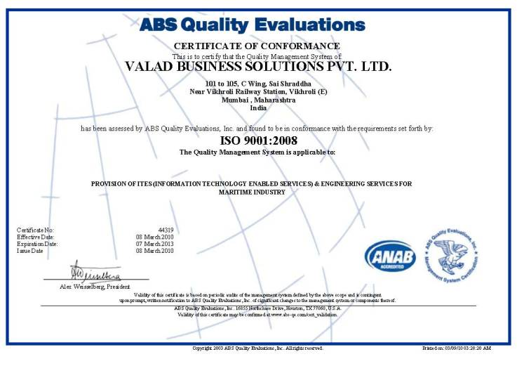 Valad Business Solution, India
