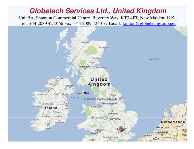 Globetech Services Limited, UK